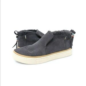 TOMS Paxton Booties Suede Faux Fur Water Resistant